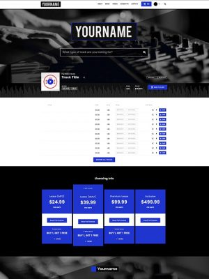 Premade Beatstars Pro Page Block Theme #001 Layout Preview