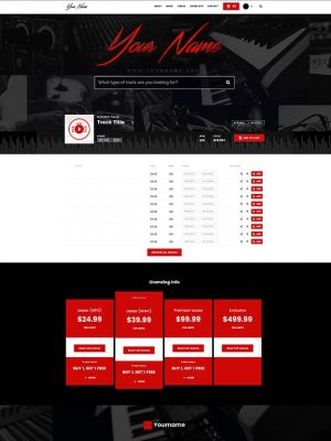 Premade Beatstars Pro Page Block Theme #002 Layout Preview