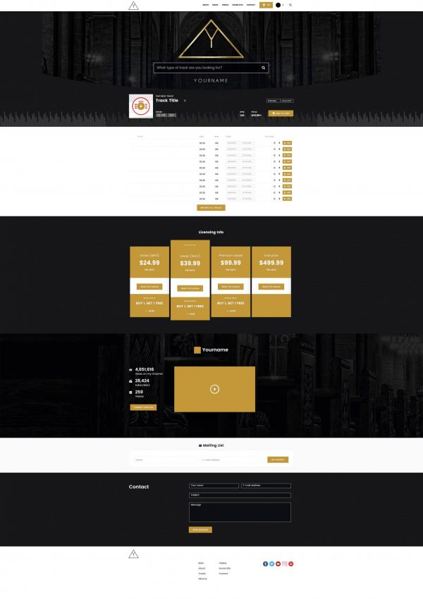 Premade Beatstars Pro Page 2.0 PP2 Layout #005 Fullsize Preview