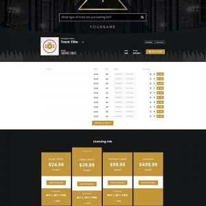 Premade Beatstars Pro Page Block Theme #005 Layout Preview