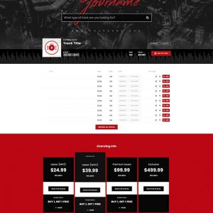 Premade Beatstars Pro Page Block Theme #010 Layout Preview