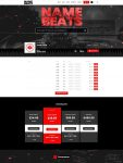 Premade Beatstars Pro Page Block Theme #011 Layout Preview