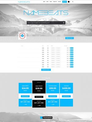 Premade Beatstars Pro Page Block Theme #012 Layout Preview
