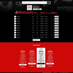 Premade Beatstars Pro Page Round Theme #002 Layout Preview