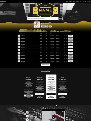 Premade Beatstars Pro Page Round Theme #009 Layout Preview