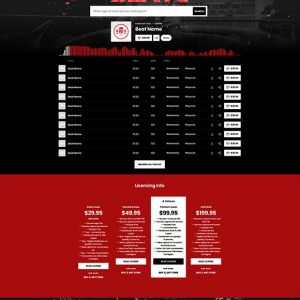 Premade Beatstars Pro Page Round Theme #011 Layout Preview